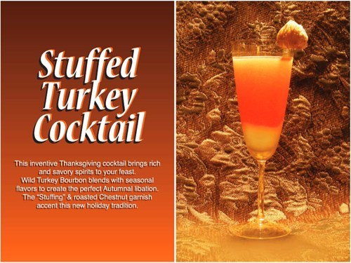 cocktail,funny,thanksgiving,stuffed turkey