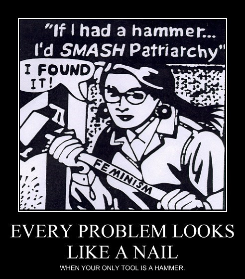 EVERY PROBLEM LOOKS LIKE A NAIL WHEN YOUR ONLY TOOL IS A HAMMER.