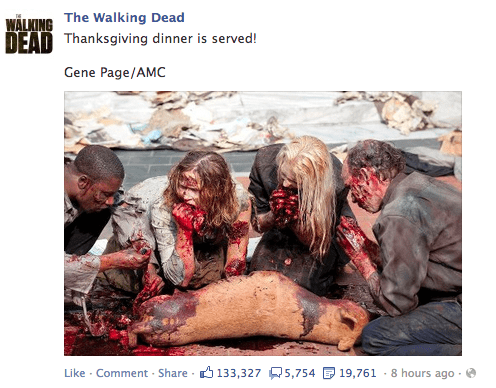 facebook zombie thanksgiving The Walking Dead
