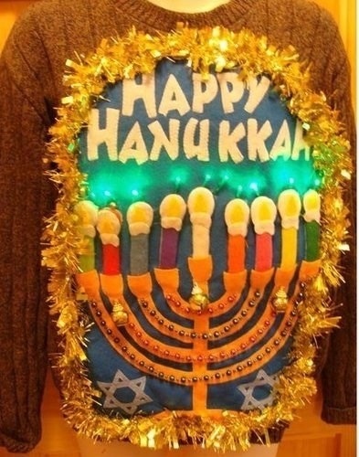 fashion ugly sweater hanukkah g rated - 7925872128