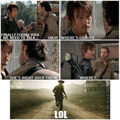 daryl dixon diversion Rick Grimes where's carol - 7925889792