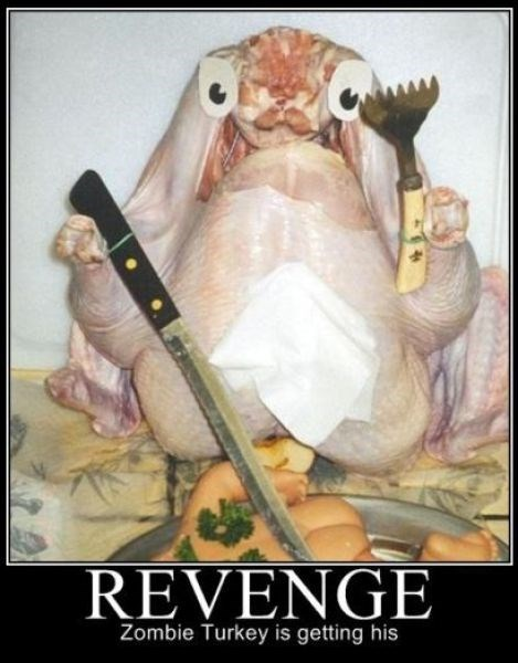 funny,Turkey,revenge,zombie,thanksgiving