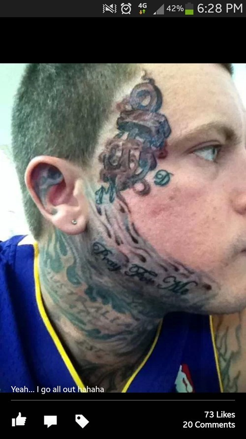 bad face funny tattoos - 7925939456