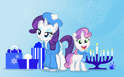 hannukah rarity Sweetie Belle