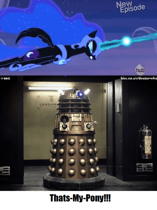 dalek Exterminate mashup princess luna - 7926129920