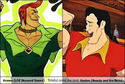 Groose (LOZ Skyward Sword) Totally Looks Like Gaston (Beauty and the Beast)