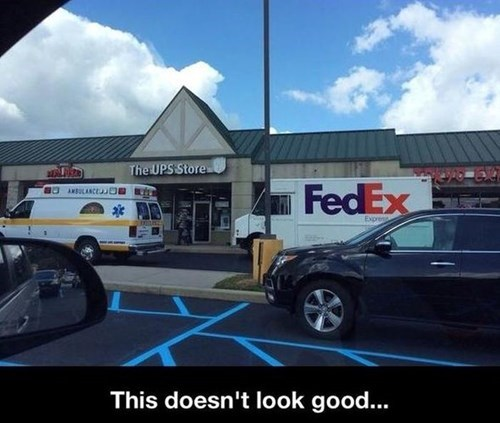 coincidence,fedex,funny,UPS