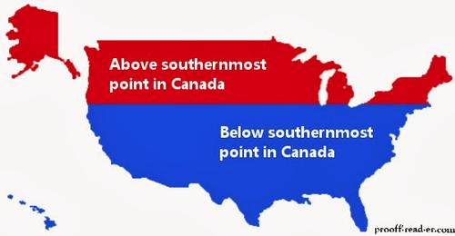 Canada,map,usa