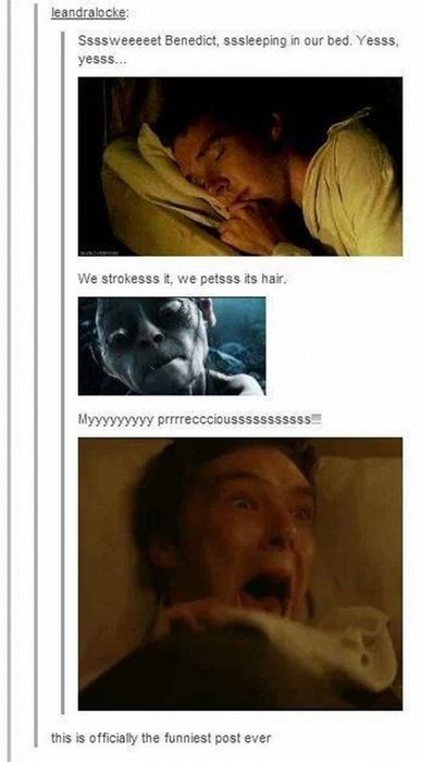 benedict cumberbatch,crush,creepy,funny,gollum,tumblr