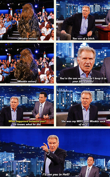 funny Harrison Ford star wars nerdgasm - 7926342912
