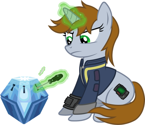 MLP Fan Art lockpick fallout secret chest - 7926519040
