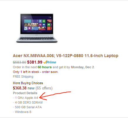 Apple now makes Acer products