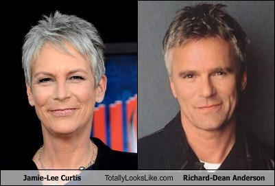 jamie lee curtis,Richard Dean Anderson,totally looks like,funny