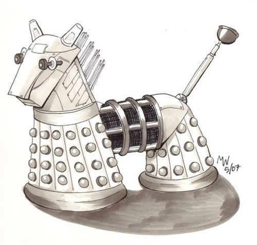 daleks,doctor who,Fan Art