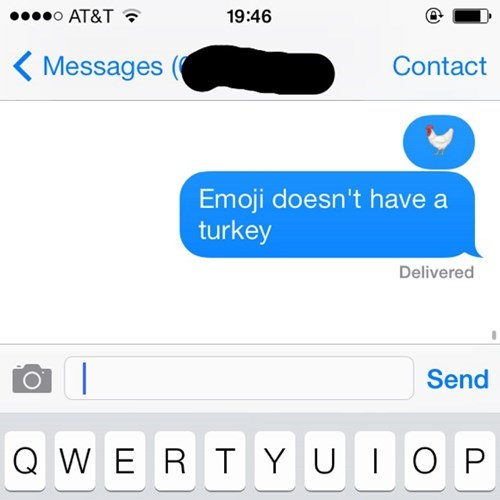 autocorrect emoji chickens text turkeys