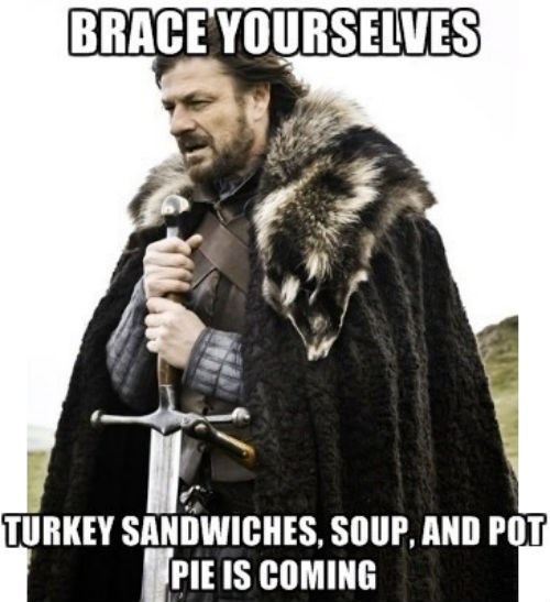 food brace yourself leftovers thanksgiving - 7927990528