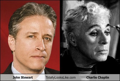 charlie chaplin,john stewart,totally looks like,funny