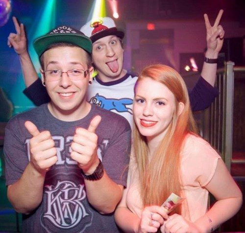 Random photobomb at the club, which I have no recollection of doing.
