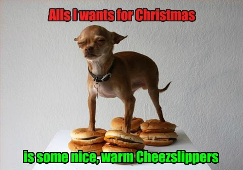 dogs cheeseburgers christmas funny - 7928832512