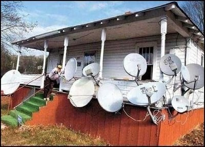 there I fixed it,satellite dishes