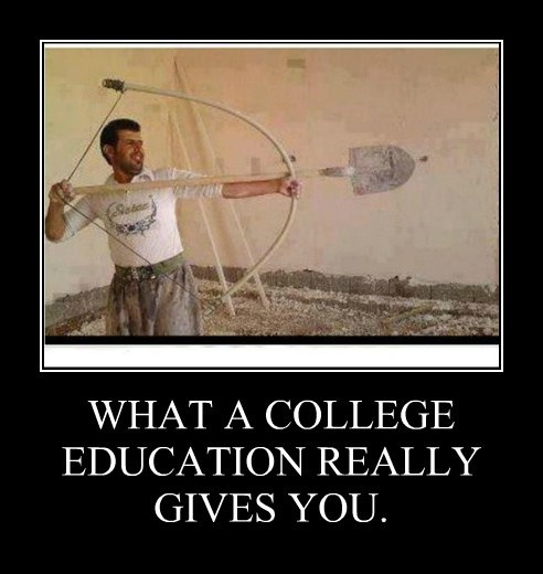 WHAT A COLLEGE EDUCATION REALLY GIVES YOU.