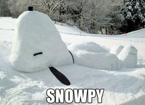 kids puns parenting snoopy snow sculptures - 7929043712
