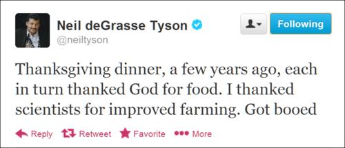 science Neil deGrasse Tyson thanksgiving - 7929066752