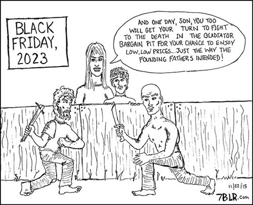 sad but true black friday gladiators funny web comics