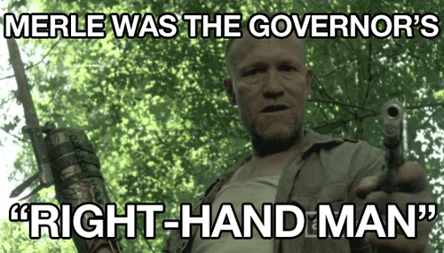 right hand Michael Rooker merle dixon