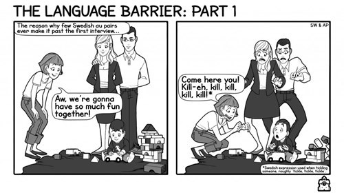 the language barrier web comics 4koma comic strip, webcomics