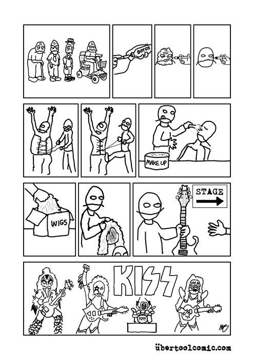 Music KISS funny web comics rock and roll - 7929210880