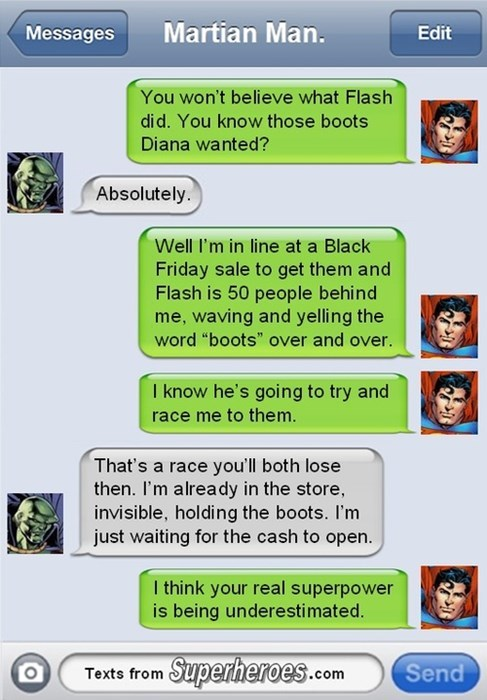 texts black friday martian manhunter superman - 7929282816