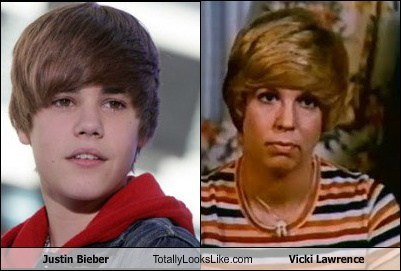 justin bieber,totally looks like,vicki lawrence
