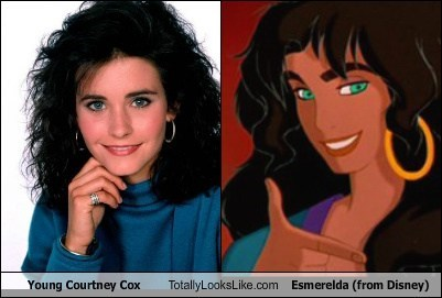 courtney cox,esmerelda,totally looks like