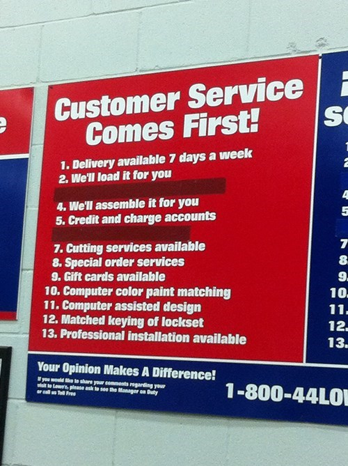 customer service,there I fixed it,g rated