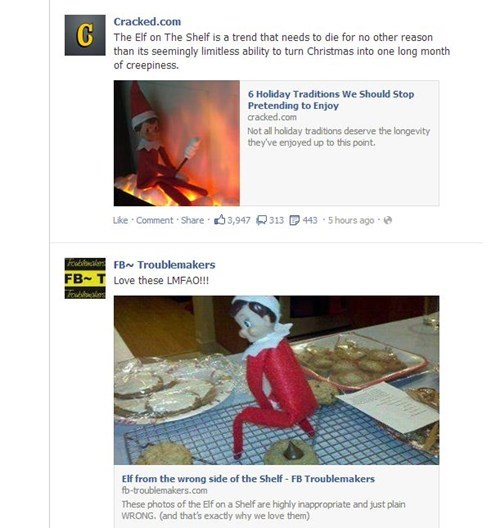 juxtaposition,elf on the shelf,failbook