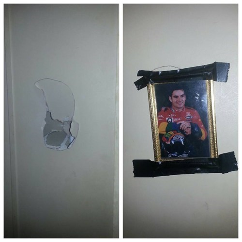 duct tape nascar holes there I fixed it walls - 7930134016
