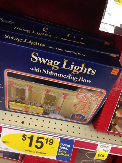 christmas lights swag - 7930330624