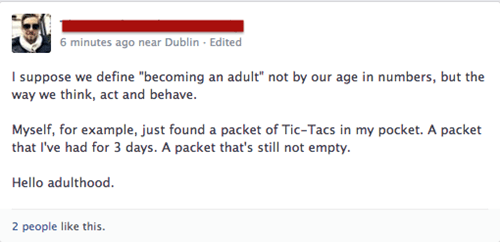 adulthood,tic tacs
