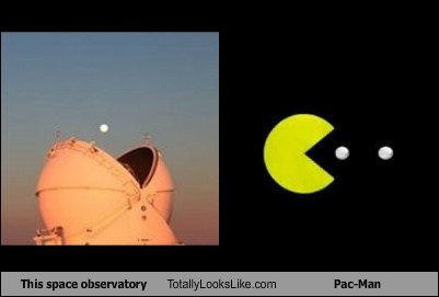 funny totally looks like observatory pac man