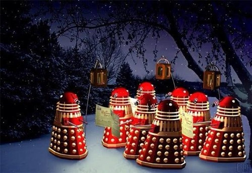 daleks,doctor who,christmas,holidays,Christmas Carols