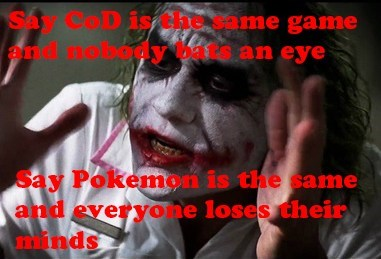 call of duty,Pokémon,nobody bats an eye