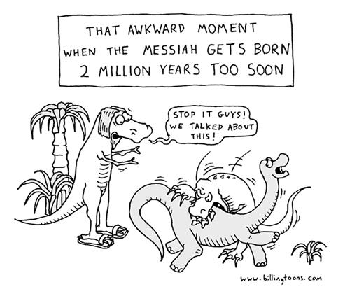 dinosaurs,jesus,web comics