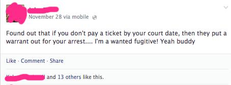 tickets warrants - 7931430400