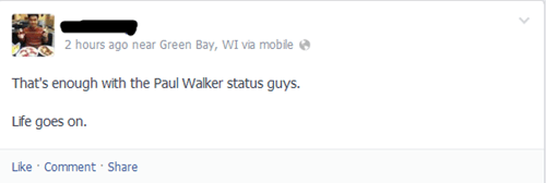 paul walker,too soon