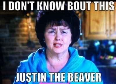 beaver justin bieber wrong - 7931760640