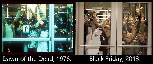 black friday Dawn of the Dead shopping zombie