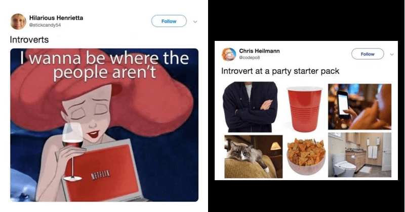 Funny tweets about introverts.