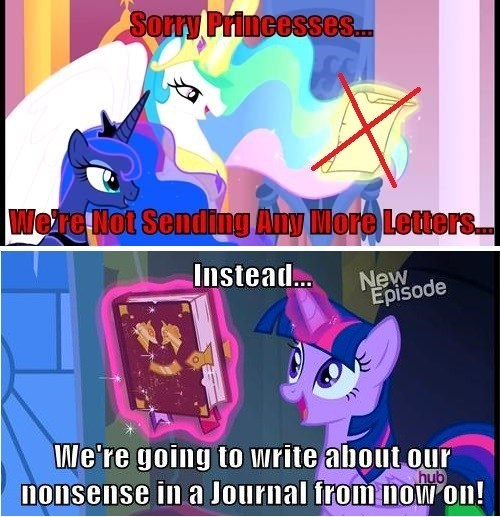 letters,princess luna,journal,mlp season 4