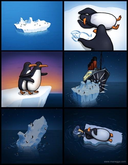 titanic penguins sad but true funny web comics - 7932756992